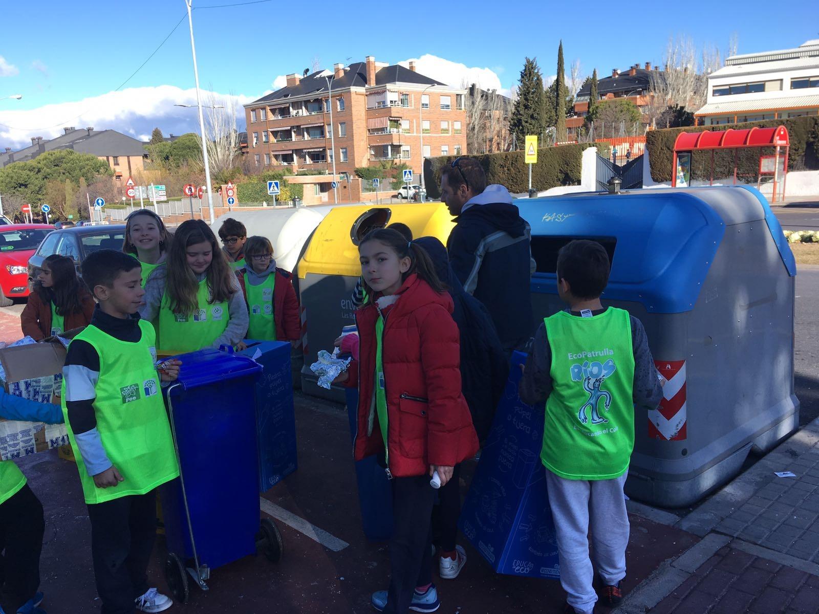 2018_02_EcoPatrullas reciclando_CEIP Fernando de los Ríos_Las Rozas 7