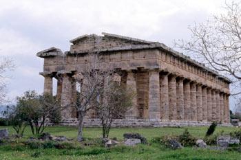Templo de Hera en Paestum, Italia