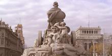 Detalle de la fuente de la Cibeles, Madrid