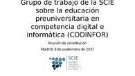 Grupo de trabajo de la SCIE sobre la educación preuniversitaria en competencia digital e informática