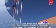 Aumenta la oferta educativa de Aranjuez con 150 nuevas plazas de Primaria