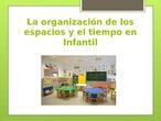 Organización de los espacios y el tiempo en Educación Infantil
