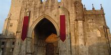 Fachada principal de la Catedral de Tuy, Pontevedra, Galicia