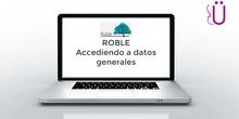 Acceso a datos generales en portal ROBLE