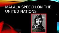 Malala Speech on the United Nations