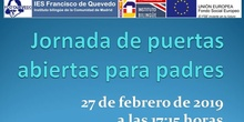 Jornada de puertas abiertas para padres 2019 IES Francisco de Quevedo