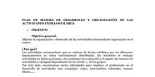 PLAN DE MEJORA DE ORGANIZACIÓN Y DESARROLLO DE ACT EXTRAESCOLARES
