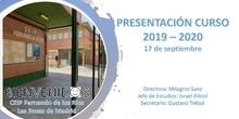 Presentación del Curso 2019-2020_CEIP FDLR_Las Rozas