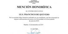 Reconocimiento Académico UCM al Caustro de profesores del IES Francisco de Quevedo