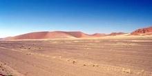 Llanura entre dunas, Namibia