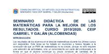 Seminario Didáctica de las matemáticas para la mejora de los resultados
