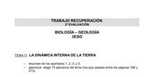 Trabajo recuperación 3ESO A y B 2ª evaluación Biología-Geología