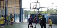 Partido de baloncesto Mozart-IES Lázaro Carreter 24-04-2021