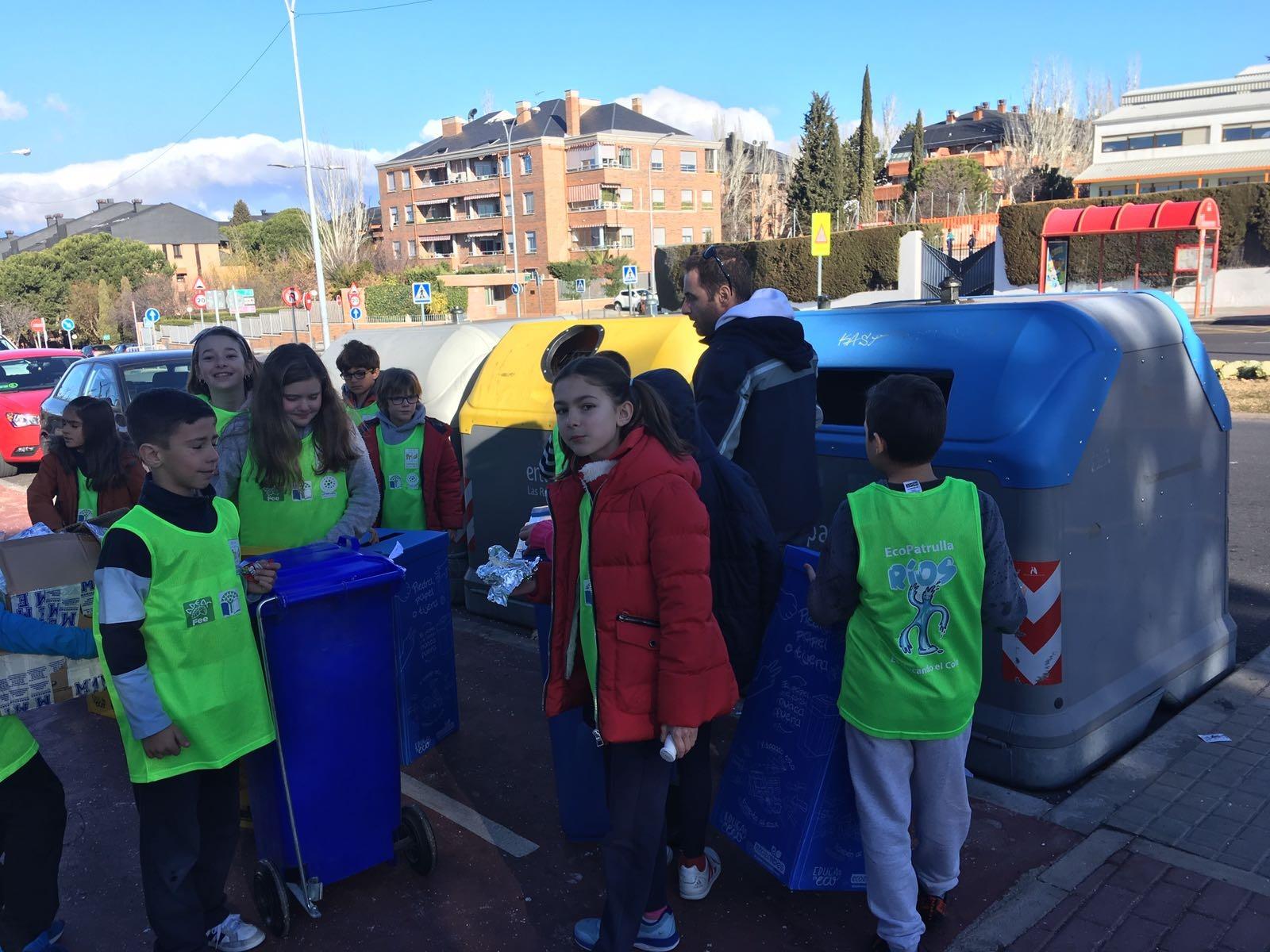 2018_02_EcoPatrullas reciclando_CEIP Fernando de los Ríos_Las Rozas 8