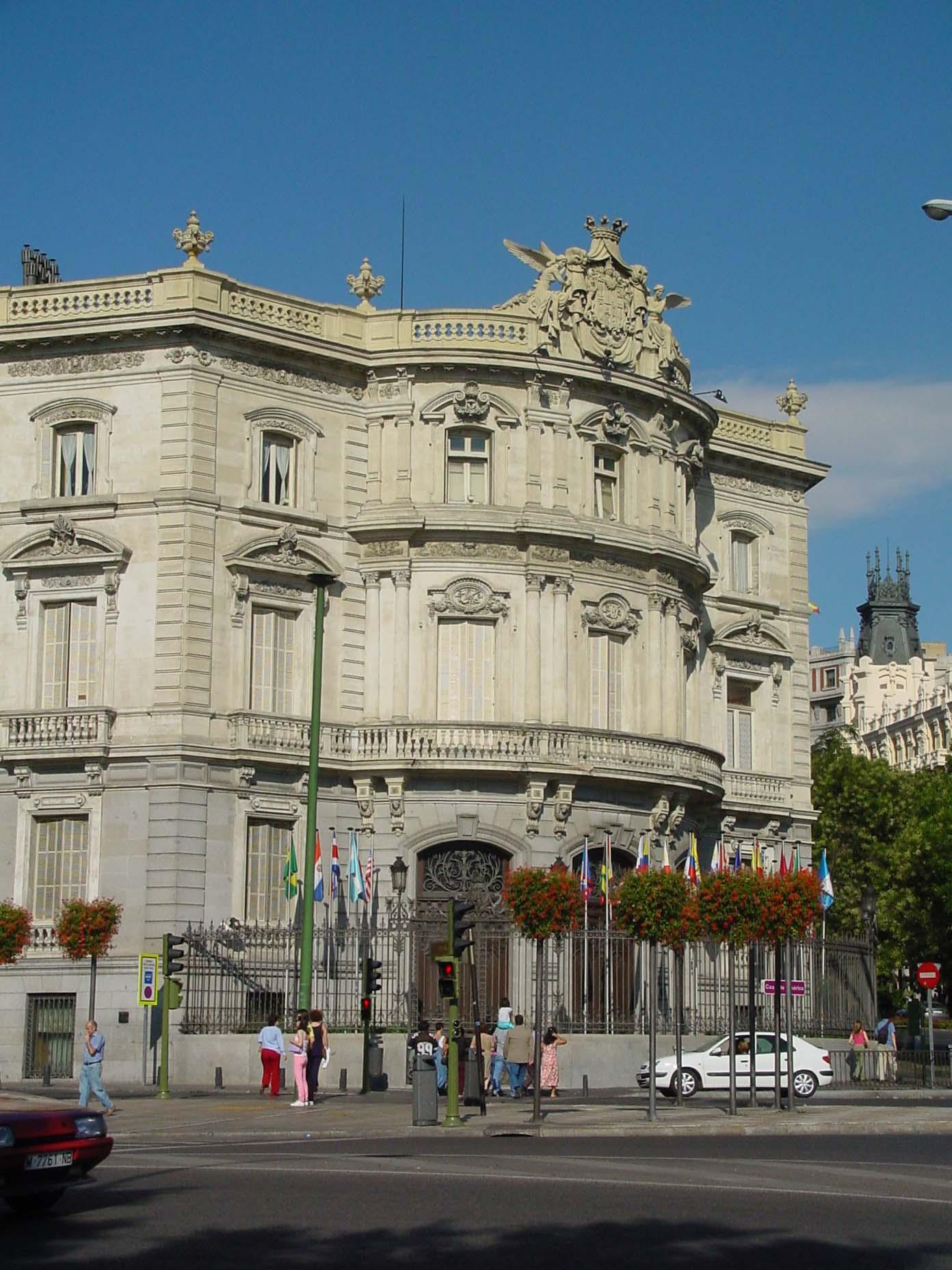 Casa de América o Palacio de Linares de Madrid