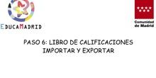 Importar y exportar libro de calificaciones