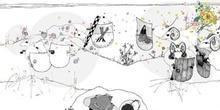 Cap. XVIII. Don Quijote ve dos ejércitos en dos rebaños de carne