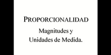 Magnitudes y unidades de medida