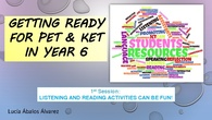 reading and listening practice for PET & KET exams teacher training course 2018