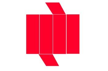 Desarrollo de un prisma rómbico