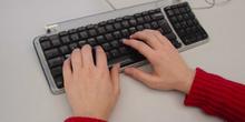 Posición de las manos en el teclado