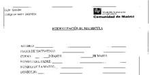 Documentación matrícula Primaria