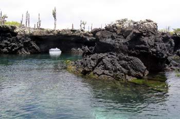 Formaciones de lava solidificada en la Isla Isabela, Ecuador