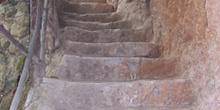 Escalera labrada en piedra, Monasterio de Piedra, Nuévalos, Zara