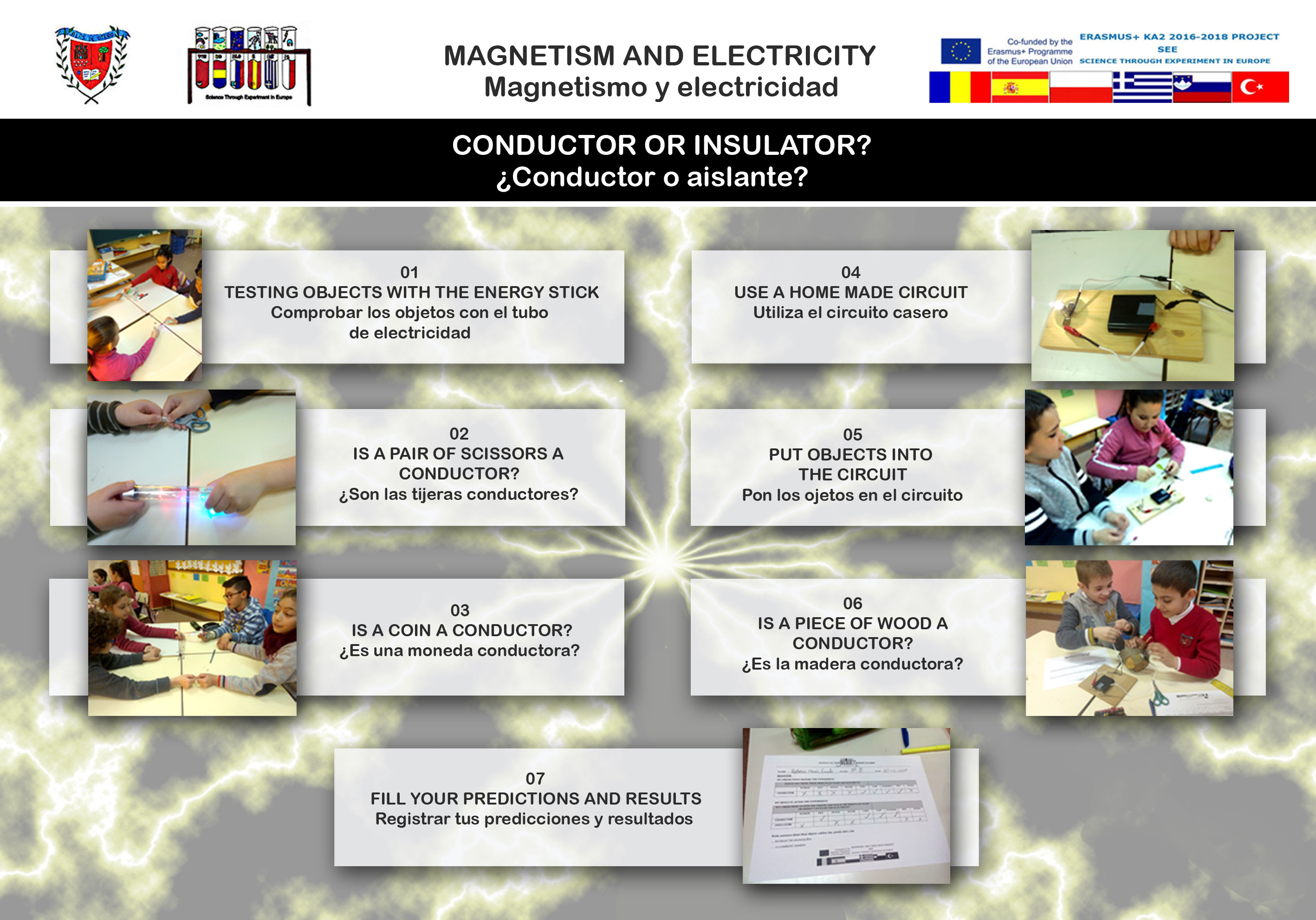 Magnetism and electricity experiment 02 Conductor or insulator?