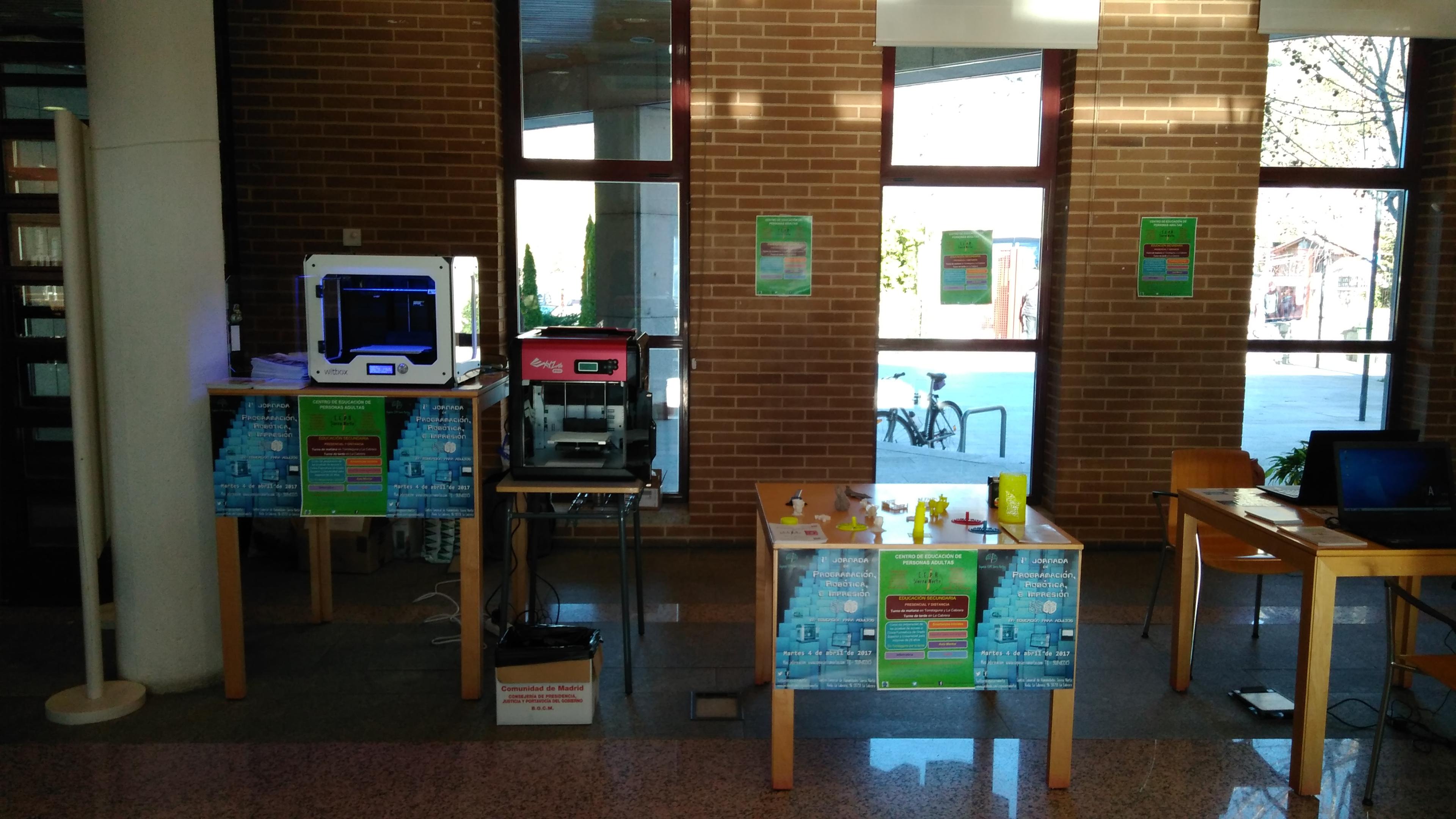 I Jornada de Programación, Robótica e Impresión 3D en educación para adultos. 04-04-2017