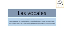 LAS VOCALES NIVEL I