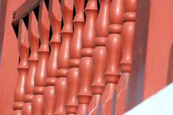 Barandilla de un balcón de la Plaza de la Constitución, Puerto L
