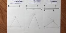 Construcción de triángulos con compás y regla.