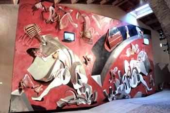 Obra Mitos Berlín, de Wolf Vostell - Malpartida de Cáceres