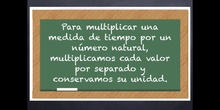 6º matemáticas La multiplicación de medidas de tiempo