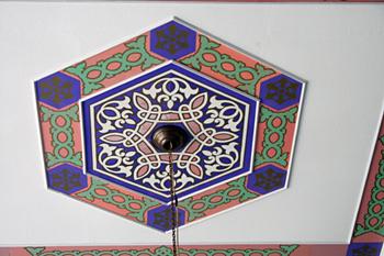 Detalle de decoración en techo, Banda Ache, Sumatra, Indonesia