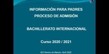 Video informativo sobre la admsión de alumnos en Bachillerato Internacional en el IES Ramiro de Maeztu