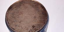 Radiador con panel de nido de abeja