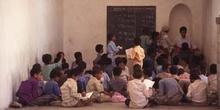 Clase de matemáticas en una escuela de Taiz, Yemen