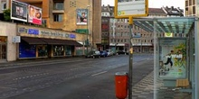 Calles del centro comercial de Dusseldorf, Alemania
