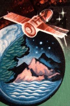 Ilutración de un satélite sobrevolando la Tierra