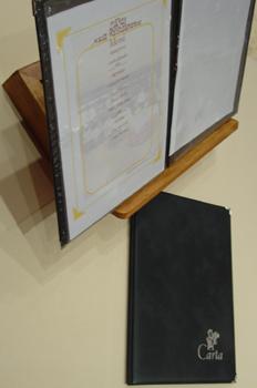 Carta de platos