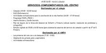 Servicios complementarios del centro