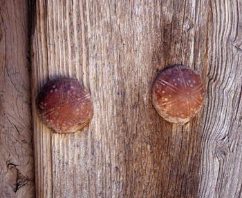 Detalle de herraje de puerta rural