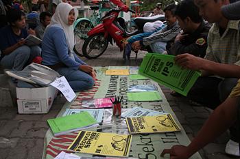 Venta de libros, Jogyakarta, Indonesia