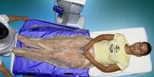 Presoterapia: colocación de tubos en alforjas