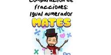 4º Matemáticas Comparación de fracciones con igual numerador.