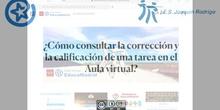 Cómo consultar la calificación y la corrección de una tarea entregada en el Aula virtual