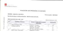 Listado Provisional Admitidos 1º Ciclo