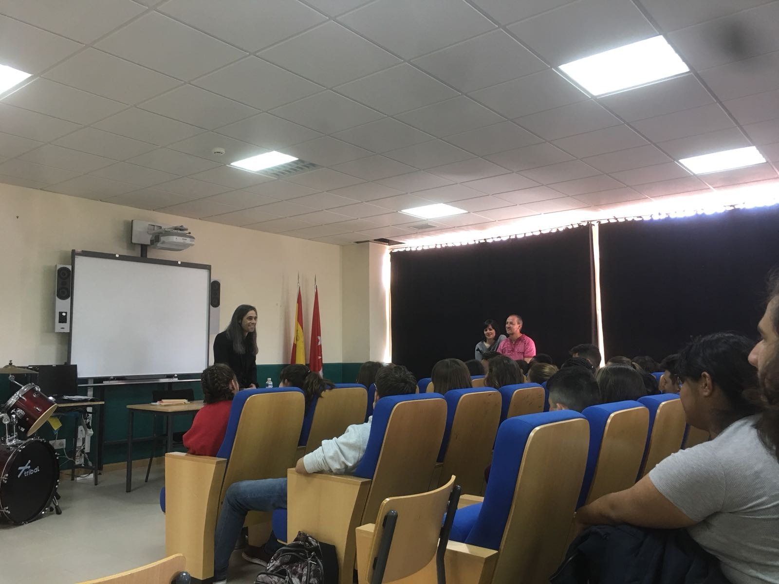 Álvaro Tato - Encuentro con los actores del IES Nicolás Copérnico